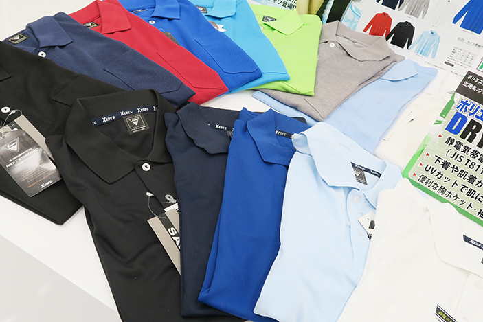 ジーベックの6010シリーズはさらりとした吸汗速乾ポロシャツ