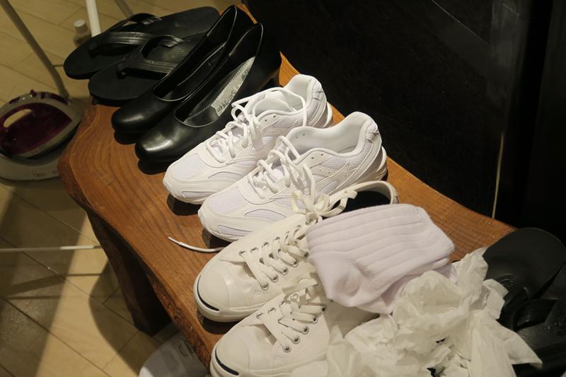 撮影に使用する靴