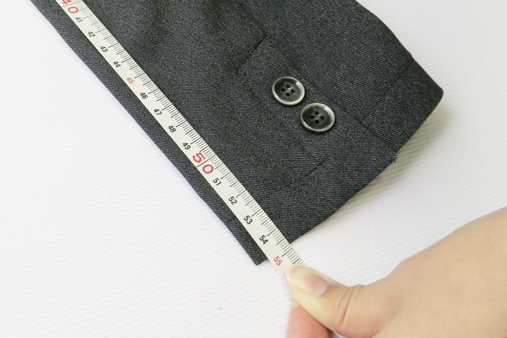 ジャケット袖丈3