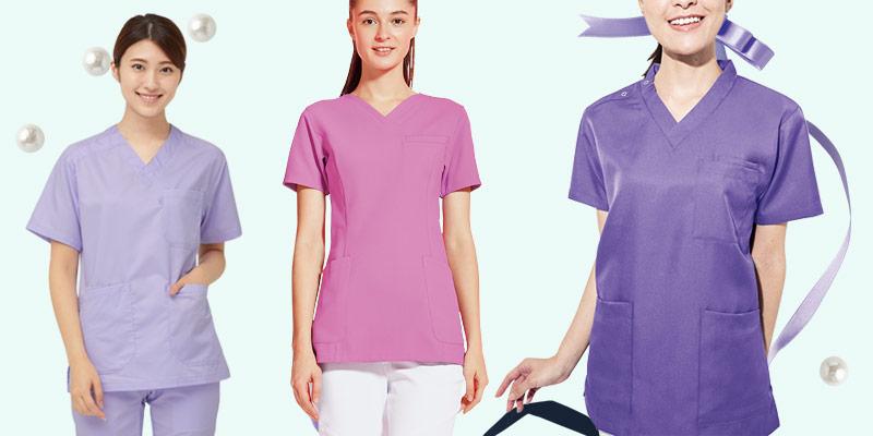 女性が着る紫のイメージ画像