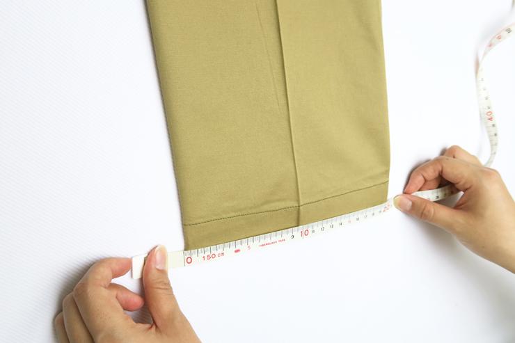 作業パンツ裾幅